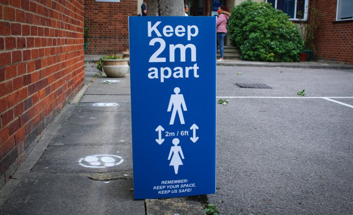 Keep 2m Apart Sign